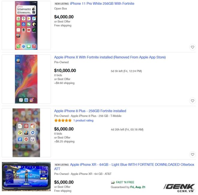 iPhone, iPad cài sẵn Fortnite được rao bán với giá lên tới hàng trăm triệu đồng - Ảnh 2.