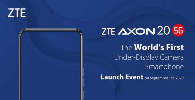 Smartphone có camera ẩn dưới màn hình đầu tiên trên thế giới sẽ chính thức được ra mắt vào ngày 1 tháng 9 - Ảnh 1.