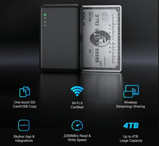 Skybox: Ổ SSD không dây nhỏ nhất thế giới, chỉ bằng một chiếc thẻ tín dụng - Ảnh 2.