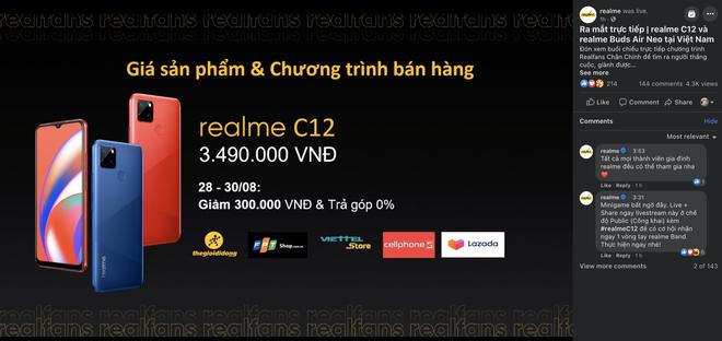 Cận cảnh Realme C12 vừa ra mắt tại Việt Nam: Bản nâng cấp từ C11, pin trâu hơn, mọc thêm 1 camera sau, giá 3,49 triệu đồng - Ảnh 13.
