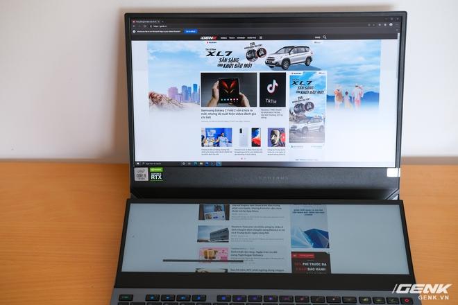 Cận cảnh laptop hai màn hình ROG Zephyrus Duo 15: Không gian hiển thị 2 x 4K đã mắt, cấu hình khủng long, chơi game đã hơn, giá cũng hoảng hơn - Ảnh 10.