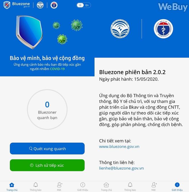 """Dùng thử """"Khẩu trang Điện tử"""" Bluezone: Có mỗi 2 tính năng, rất dễ dùng nhưng hiệu quả đến đâu là do bạn, tôi và chúng ta - Ảnh 2."""