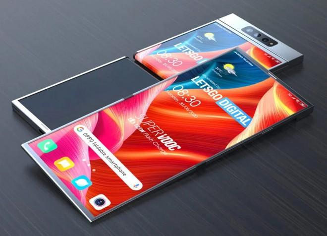 Hé lộ bằng sáng smartphone màn hình gập với cơ chế gập ra ngoài vô cùng độc đáo của Oppo - Ảnh 1.