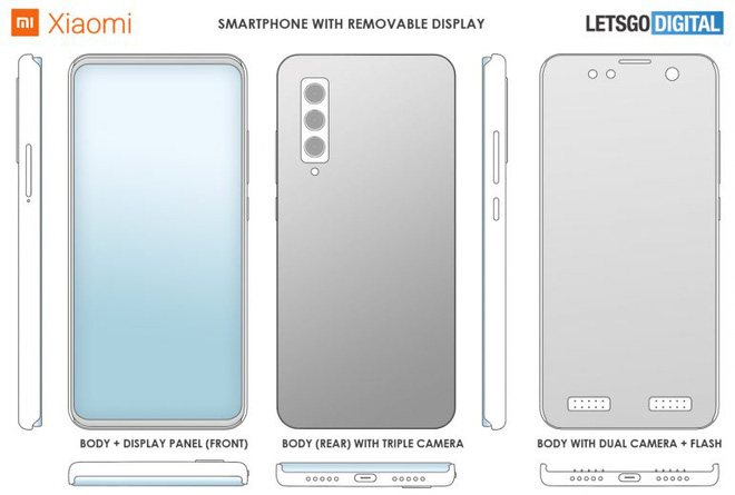 Hãy quên pin tháo rời đi, vì Xiaomi vừa thiết kế một chiếc điện thoại với màn hình tháo rời - Ảnh 1.