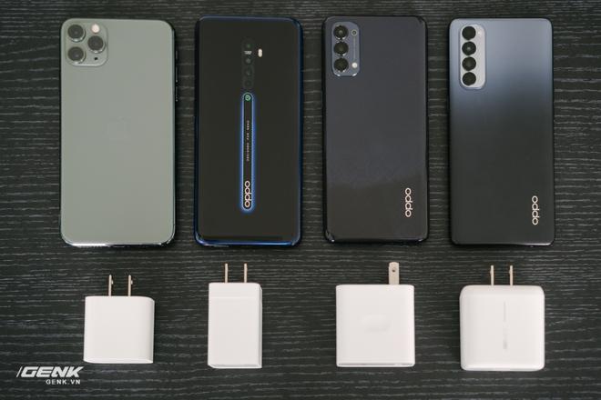 So sánh tốc độ sạc 65W của Reno4 Pro và một vài smartphone khác: Sạc nhanh bỗng biến thành sạc chậm - Ảnh 3.