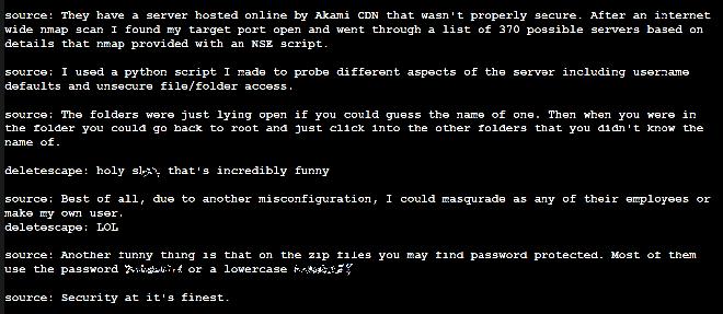 Ảnh chụp màn hình cho thấy đoạn chat giữa Kottman và hacker cung cấp khối dữ liệu trên