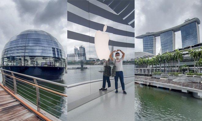 Tham quan Apple Store hình cầu nổi trên mặt nước vừa mới được khai trương tại Singapore - Ảnh 7.