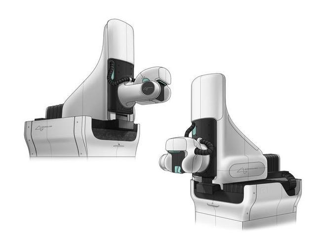 Các nhà thiết kế của Woke Studios lên ý tưởng thiết kế từ các loại thiết bị y tế thông dụng hơn nhằm giúp robot có bề ngoài ít đáng sợ với bệnh nhân.
