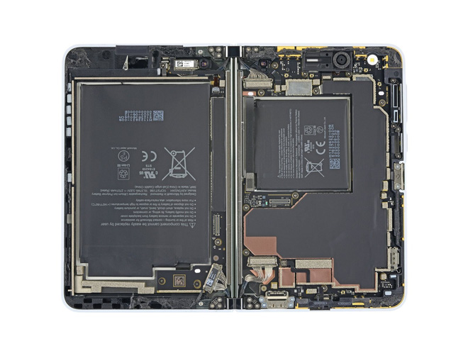 Surface Duo chỉ có hai bộ phận dễ sửa chữa: màn hình và mặt lưng - Ảnh 1.