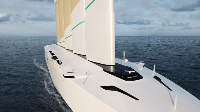 Chiêm ngưỡng thiết kế siêu thuyền buồm khổng lồ cánh dài 80 mét chạy bằng sức gió - Ảnh 2.