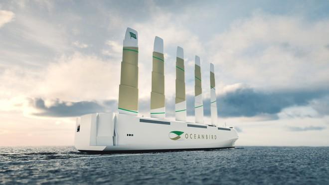 Chiêm ngưỡng thiết kế siêu thuyền buồm khổng lồ cánh dài 80 mét chạy bằng sức gió - Ảnh 1.