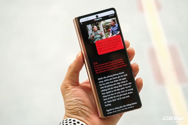 Mở hộp điện thoại gập đôi không gãy của Samsung: Cái gì cũng đẹp, mỗi tội giá dễ ngất - Ảnh 20.