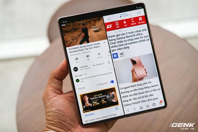 Mở hộp điện thoại gập đôi không gãy của Samsung: Cái gì cũng đẹp, mỗi tội giá dễ ngất - Ảnh 13.