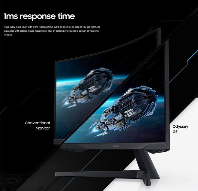 Samsung ra mắt màn hình gaming cong Odyssey G5 tại VN: Độ phân giải 2K, tần số quét 144Hz, HDR10... - Ảnh 3.