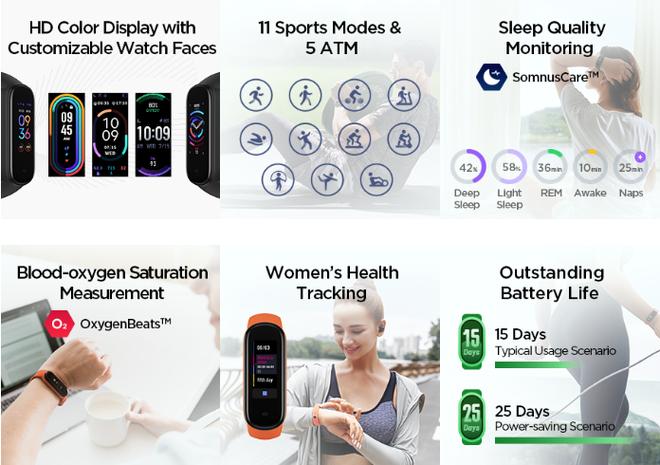 Xiaomi ra mắt Amazfit Band 5: Đo Oxy trong máu như Apple Watch Series 6, giá 1 triệu đồng - Ảnh 3.