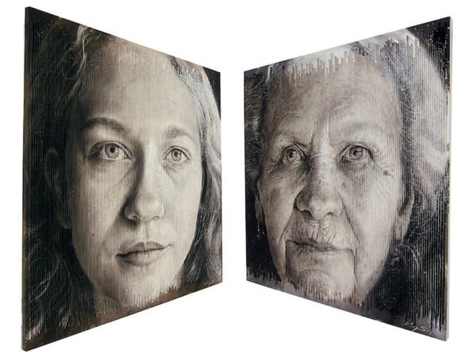 Những bức tranh chân dung kỳ lạ khiến người xem ngỡ ngàng vì có nhiều khuôn mặt từ các góc nhìn khác nhau - Ảnh 3.