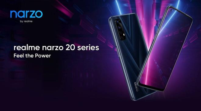 Realme ra mắt Narzo 20 series: Màn hình 90Hz, sạc nhanh 65W, giá từ 2.7 triệu đồng - Ảnh 1.
