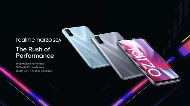 Realme ra mắt Narzo 20 series: Màn hình 90Hz, sạc nhanh 65W, giá từ 2.7 triệu đồng - Ảnh 3.