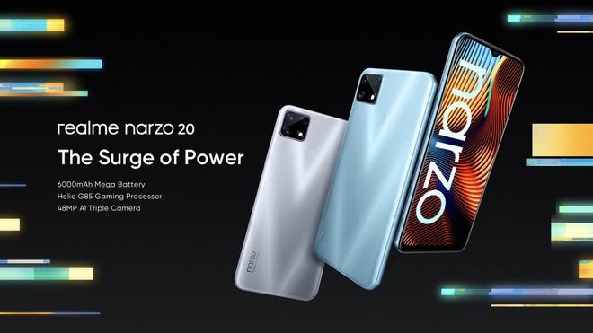 Realme ra mắt Narzo 20 series: Màn hình 90Hz, sạc nhanh 65W, giá từ 2.7 triệu đồng - Ảnh 4.