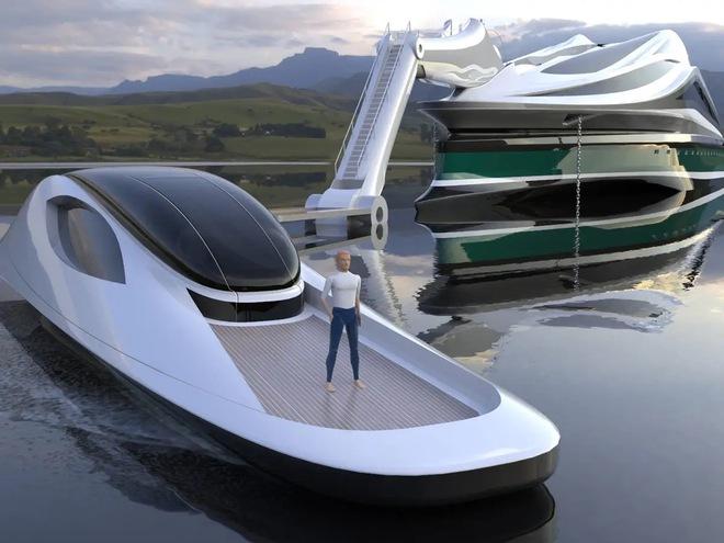 Siêu du thuyền 500 triệu USD này lấy cảm hứng từ anime và có thiết kế trông như một chú thiên nga - Ảnh 5.