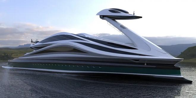 Siêu du thuyền 500 triệu USD này lấy cảm hứng từ anime và có thiết kế trông như một chú thiên nga - Ảnh 15.