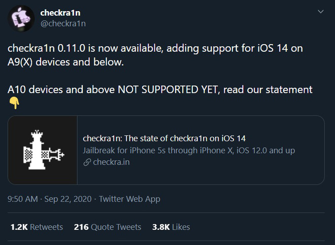 Vừa ra mắt được vài ngày, iOS 14 đã bị bẻ khóa thành công - Ảnh 1.