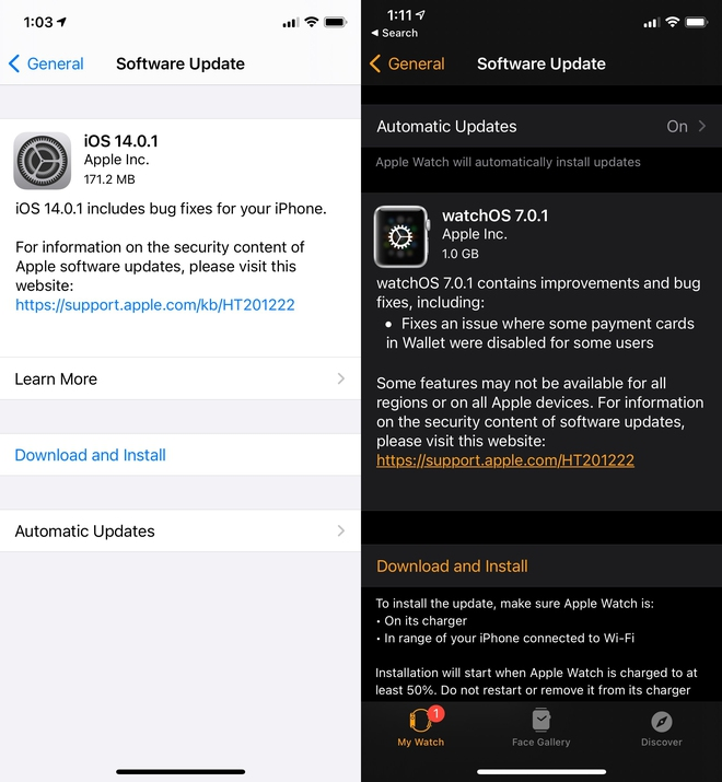 Apple phát hành iOS 14.0.1: Sửa lỗi widget và cài đặt ứng dụng mặc định - Ảnh 2.