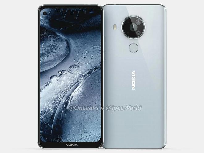 Nokia 7.3 lộ diện: Màn hình đục lỗ, mặt lưng nhựa, 4 camera sau hình tròn - Ảnh 1.