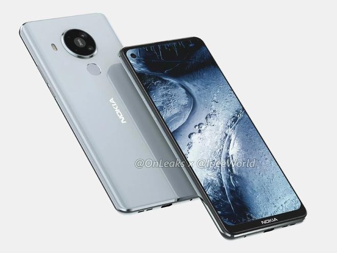 Nokia 7.3 lộ diện: Màn hình đục lỗ, mặt lưng nhựa, 4 camera sau hình tròn - Ảnh 2.