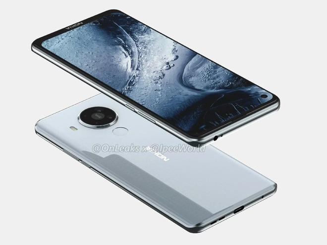 Nokia 7.3 lộ diện: Màn hình đục lỗ, mặt lưng nhựa, 4 camera sau hình tròn - Ảnh 3.