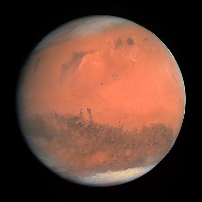 Phát hiện ra nhiều hồ nước muối ngầm ở cực nam Sao Hỏa - Ảnh 2.