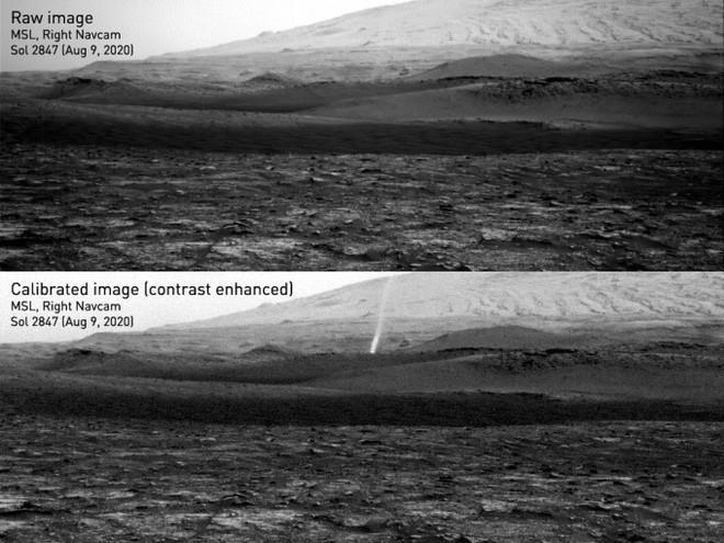 Xe tự hành của NASA ghi lại được cảnh quỷ bụi khổng lồ di chuyển trên bề mặt Hỏa Tinh - Ảnh 1.