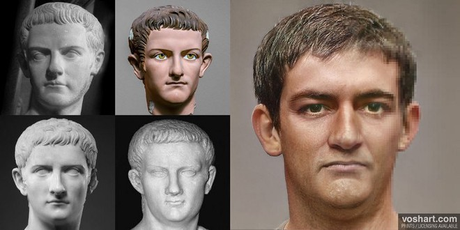 Đây chính là khuôn mặt thật của các hoàng đế La Mã huyền thoại, được AI phục dựng từ tượng điêu khắc trong bảo tàng - Ảnh 3.