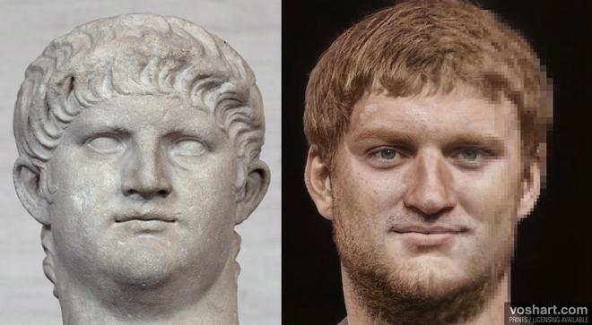 Đây chính là khuôn mặt thật của các hoàng đế La Mã huyền thoại, được AI phục dựng từ tượng điêu khắc trong bảo tàng - Ảnh 1.
