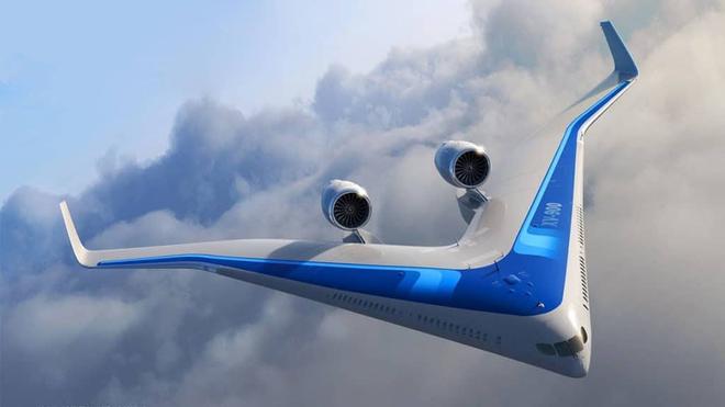 Chiếc máy bay chở khách độc dị hình chữ V này vừa cất cánh thành công lần đầu tiên - Ảnh 1.