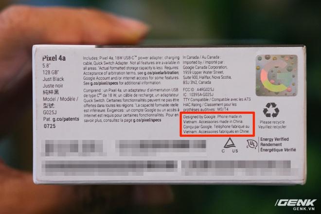 Trên tay Google Pixel 4a: Gọn nhẹ, chỉ 1 camera sau, sản xuất tại Việt Nam, giá gần 10 triệu đồng - Ảnh 2.