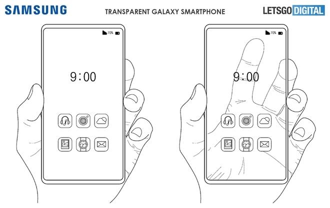 Samsung đăng ký bằng sáng chế smartphone trong suốt, có thể nhìn xuyên từ trước ra sau - Ảnh 1.