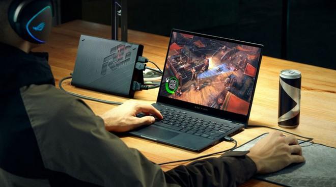 [CES 2021] Asus ra mắt ROG Flow X13: Laptop chơi game 2-trong-1, ngoại hình mỏng như ultrabook, màn hình 120Hz, GTX 1650, sạc nhanh 100W - Ảnh 1.