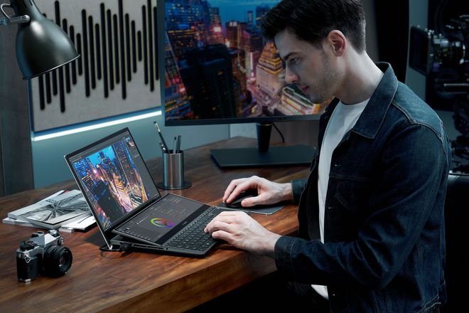 [CES 2021] Asus ra mắt hai mẫu ZenBook Duo mới với màn hình kép, VivoBook và ExpertBook mới siêu nhẹ - Ảnh 1.