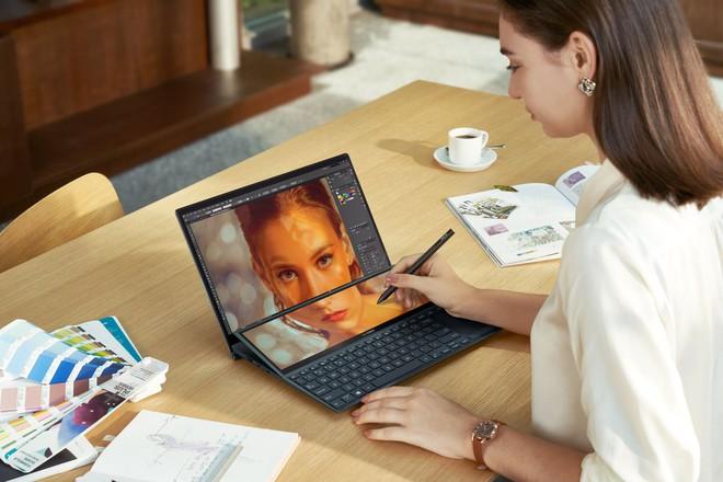 [CES 2021] Asus ra mắt hai mẫu ZenBook Duo mới với màn hình kép, VivoBook và ExpertBook mới siêu nhẹ - Ảnh 2.