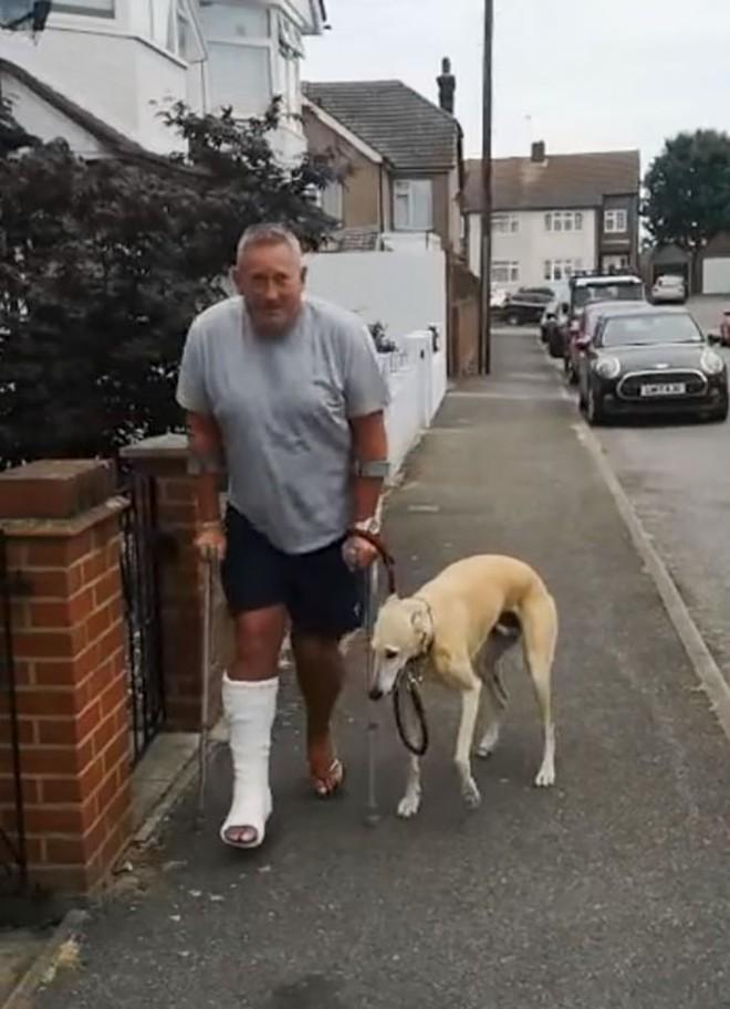 Mất hơn 8 triệu để đưa chó đi bác sỹ thú y, ai ngờ nó chỉ giả vờ què để bắt chước ông chủ bị gãy chân - Ảnh 4.