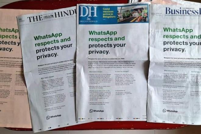 Ấn Độ yêu cầu WhatsApp hủy kế hoạch chia sẻ dữ liệu với Facebook - Ảnh 1.