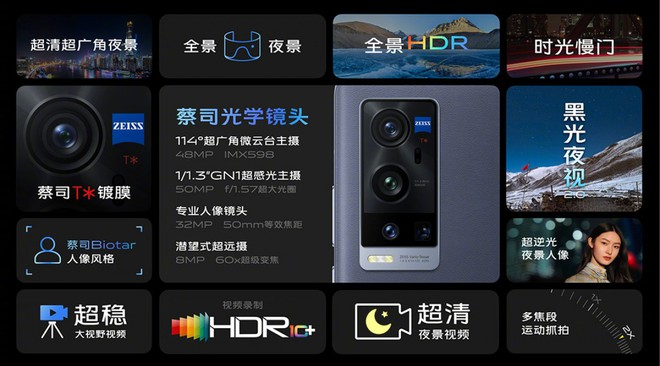 Vivo X60 Pro+ ra mắt: Snapdragon 888, cụm 4 camera cực khủng, màn hình 120Hz, sạc nhanh 55W, giá từ 17.8 triệu đồng - Ảnh 4.