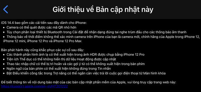 Apple phát hành iOS 14.4: Vá lỗi bảo mật quan trọng, phát hiện iPhone đã bị thay camera - Ảnh 3.