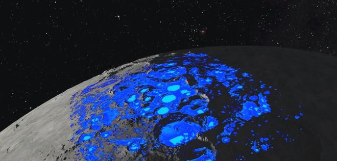 Giả thuyết mới: nước trên Mặt Trăng do gió từ Trái Đất thổi sang - Ảnh 2.