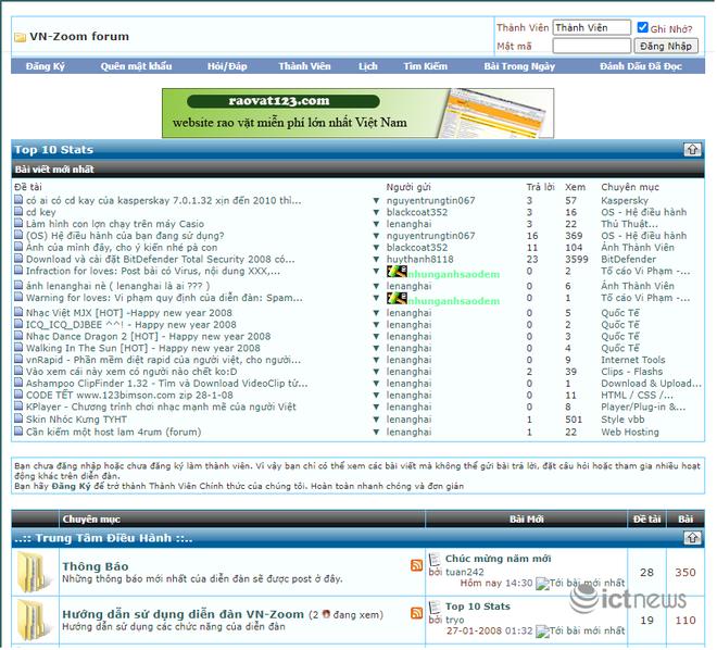 Giao diện của các website, diễn đàn vang bóng một thời tại Việt Nam - Ảnh 11.