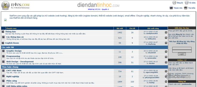 Giao diện của các website, diễn đàn vang bóng một thời tại Việt Nam - Ảnh 3.