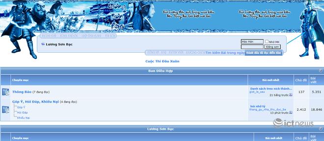 Giao diện của các website, diễn đàn vang bóng một thời tại Việt Nam - Ảnh 6.