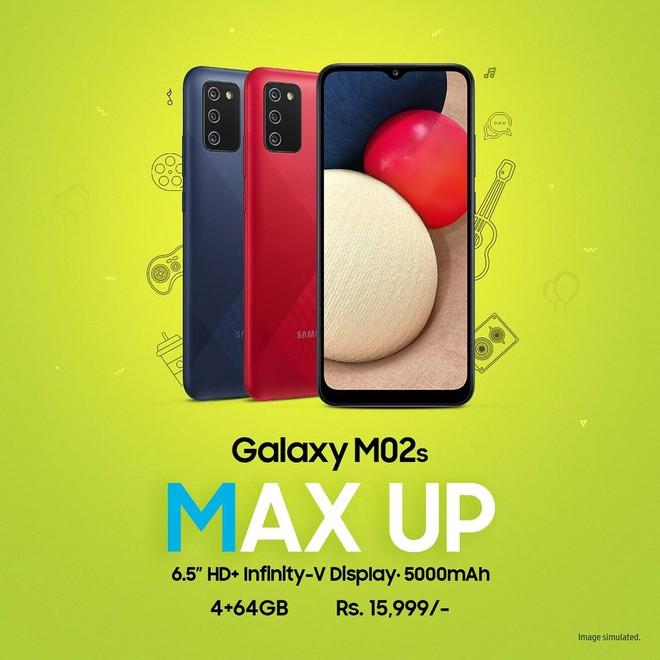 Galaxy M02s ra mắt: Snapdragon 450, ba camera, pin 5000mAh, giá 5 triệu đồng - Ảnh 1.