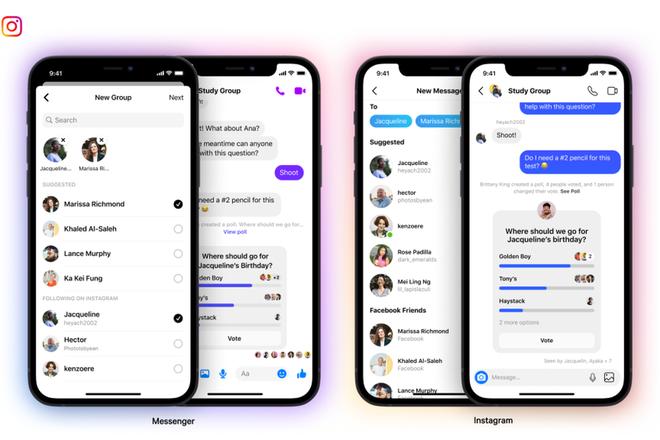 Facebook cho phép tạo group chat liên kết giữa Instagram và Messenger - Ảnh 1.